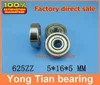 10 unids/lote envío gratis miniatura rodamiento rígido de bolas 625ZZ 625-2RS S625ZZ S625-2RS 5*16*5mm