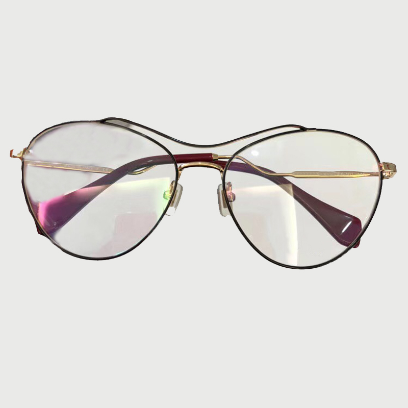 Nouveau mode 2018 lunettes de vue cadre pour les femmes avec boîte d'emballage Double pont cadre en alliage cadres optiques conception spéciale lunettes