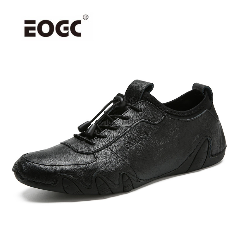 Genuine leather men casual shoes British style Lace up flats Fashion designer breathable men shoes sneakers mens women golf shoes genuine leather shoes british style waterproof breathable free shipping