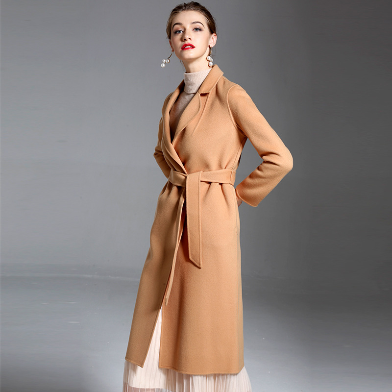2018 autumn and winter new women 39 s double sided overcoat Euramerican long cashmere trench women 39 s woolen windbreaker 1800864 in Wool amp Blends from Women 39 s Clothing