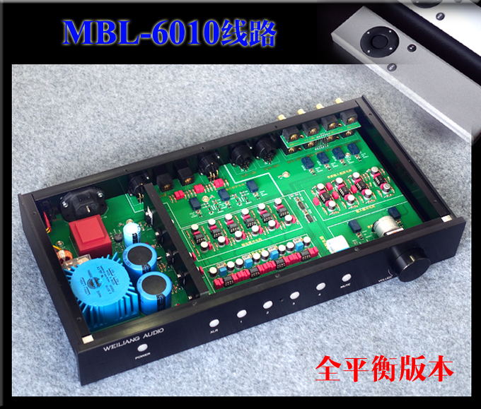 mbl6010 Full-balanced preamplifier Remote control version Clone MBL6010D Finished pre amp music hall luxury fully balanced pre amp hifi preamplifier xlr input remote control led refer to ml380s