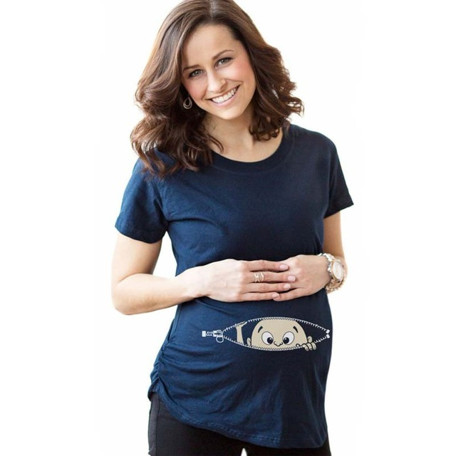 Más el tamaño de maternidad camisa de maternidad embarazo clothing camisetas baratas de dibujos animados ocasional superior divertido camisetas de maternidad embarazo producto