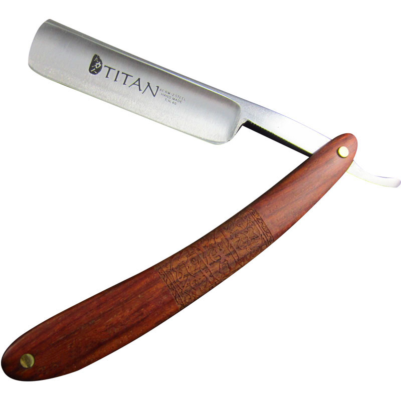Titan Wood Handle Striaght Razor Blade Sharp Already Free Shipping