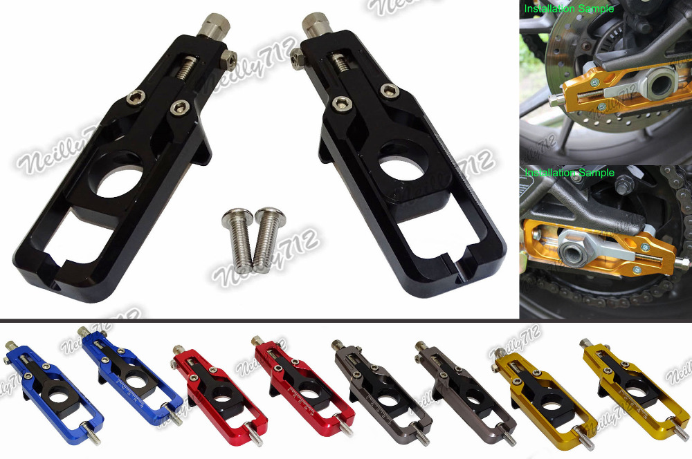 Motorcycle CNC Aluminum Chain Adjusters Tensioners Catena For Honda CBR600RR CBR 600 RR Fireblade F5 PC40 2013 2014 2015 2016 top new cnc motorcycle brakes clutch levers for honda cbr 600rr 1000rr fireblade sp 2007 2015 accessories free shipping