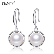 New fashion white Natural Freshwater Pearl Earrings Jewelry For Women 925 sterling silver jewelry weddings gift