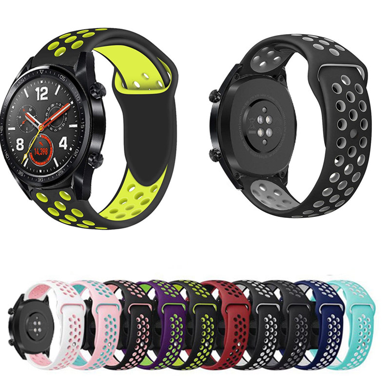 watch bands for Huawei Watch gt 2 46mm Gt 2e strap/Honor Magic/galaxy watch 46mm silicone belt smart watch replace wristband(China)