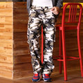 Plus size men Camouflage pants trousers casual pants loose Camouflage multi-pocket overalls pants