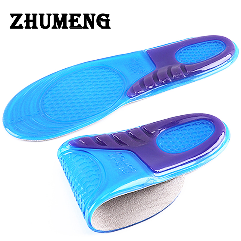 ZHUMENG Men and Women Gel Insoles Massaging Silicone Insoles Deodorant Pads Orthopedic Plantar Fasciitis Running Shoe Insoles 5 pairs slica gel silicone shoe pad insoles women s high heel cushion protect comfy feet palm care pads accessories