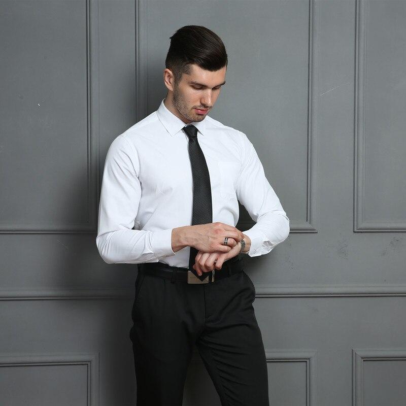 HTB1O74IWXzqK1RjSZFoq6zfcXXaD 4XL 5XL 6XL 7XL 8XL Large Size Men's Business Casual Long Sleeved Shirt White Blue Black Smart Male Social Dress Shirt Plus