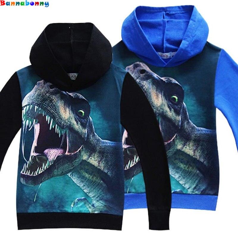 все цены на 2018 Dinosaur Spring Children Coat Autumn Kids Jacket Boys Outerwear Coats Active Boy hoodies sweatshirt Clothes Clothing