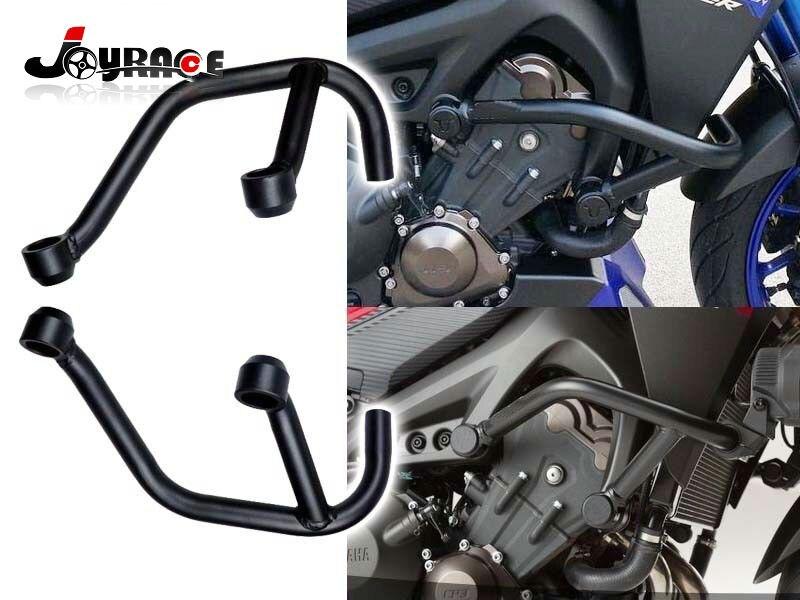 Crash Bars Frame Engine Protector Protection Guard For Yamaha MT09 FZ09 2014-16 Black