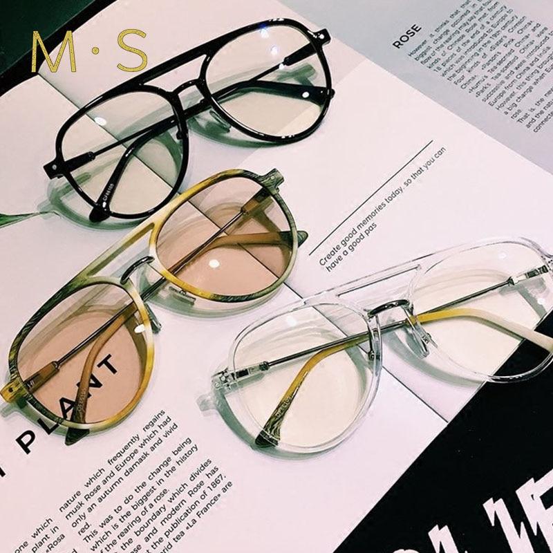 MS Reading Men Glasses Retro Fashion Presbyopia Eyeglasses Myopic Lens Frame Oculos De Grau For Women