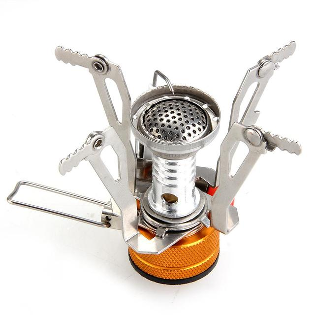 TOMOUNT Mini Backpacking Canister Stove Burners Camp Camping Outdoor Cooking Foldable Hiking Supply Metal Outdoor Gas Burners