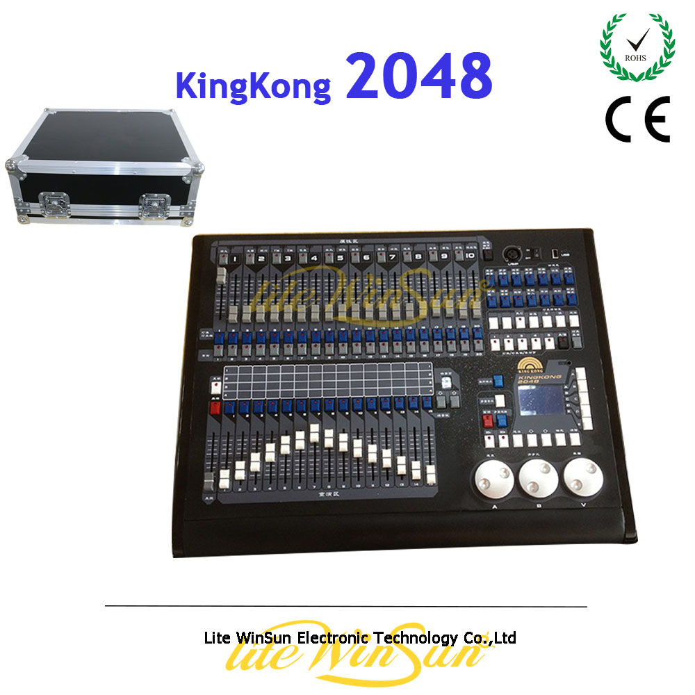 Litewinsune DMX Stage Lighting Controller 2048 Kingkong Console Free Flight Case litewinsune good quality dmx512 wireless pen for dmx stage lighting and controller console instead of xlr signal cable black
