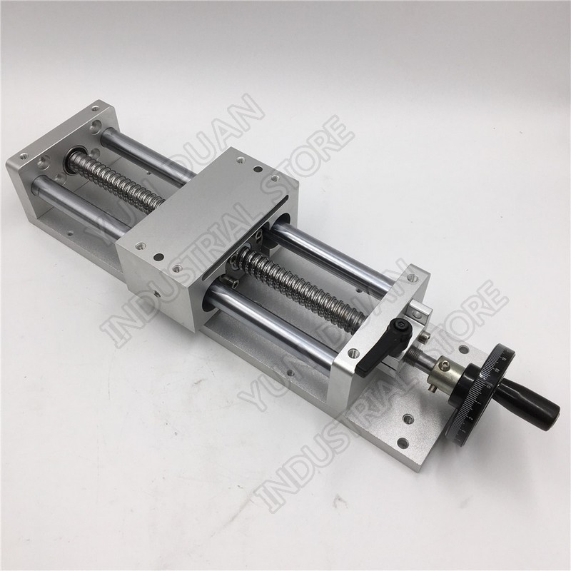Table coulissante 400 MM 16 course manuelle roue à main module linéaire diapositive étape linéaire SFU1605 vis à billes C7 plate-forme de déplacement