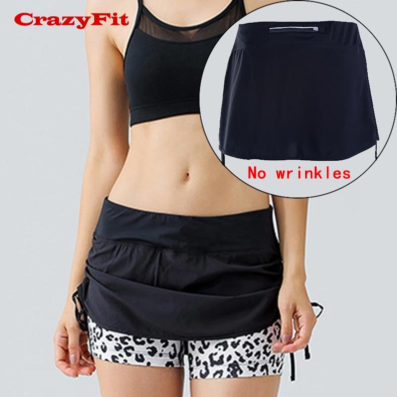 New Skorts Women Running Shorts Gym Run Sport Training Yoga Table Tennis Fitness Jogging Quick Dry Compression Female Gym Shorts