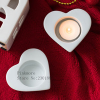 Concrete Candle Holder Moulds Heart Shaped Candlestick Silicone Clay Molds Cement Candelabrum Mold Small Pot Moulds