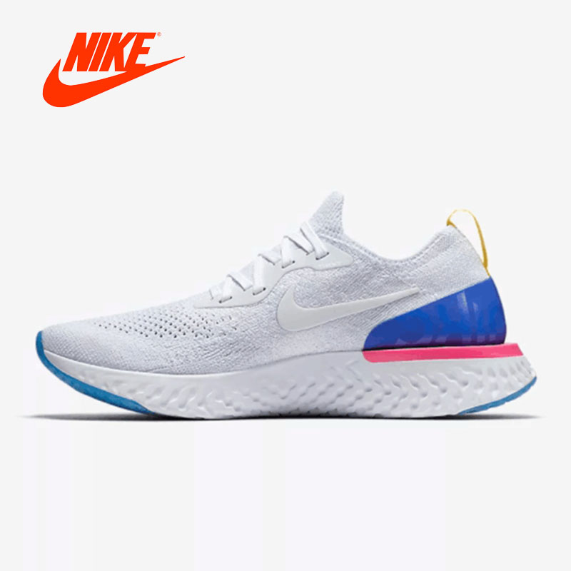 Original New Arrival Official Nike Epic React Flyknit Womens Running Shoes Sneakers Good Quality  Sport Outdoor