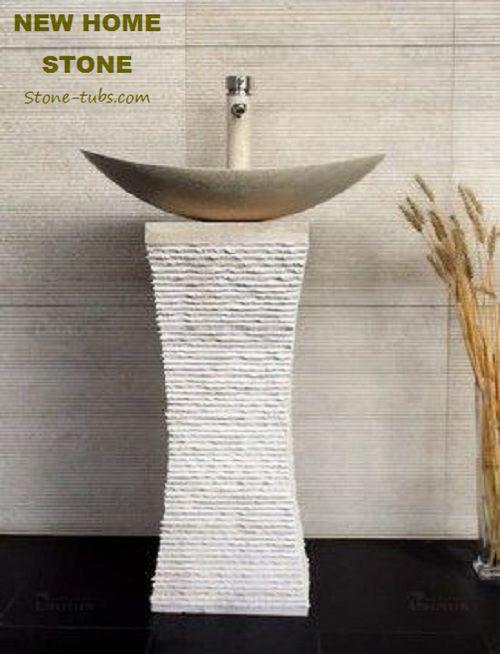 Limestone Pedestal Sink 2017 Designer Roma