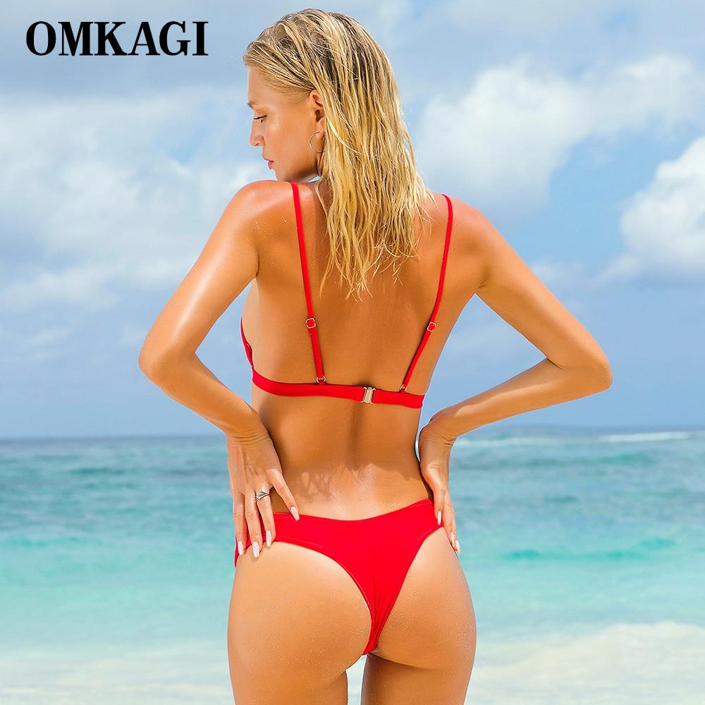 OMKAGI Brand Swimwear Women Swimsuit Sexy Push Up Micro Bikinis Set Swimming Bathing Suit Beachwear Summer Brazilian Bikini 2019 3