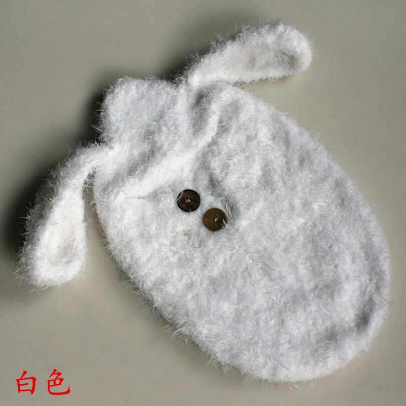 Розовые детские фотографии новорожденных фотографии аксессуары ребенка мохера Собака Hat спальный мешок костюм для фотосессии