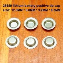 50pcs/lot 26650 Lithium Battery Positive Electrode Negative Welding Tip Cap 26700 Very Ear Accessories