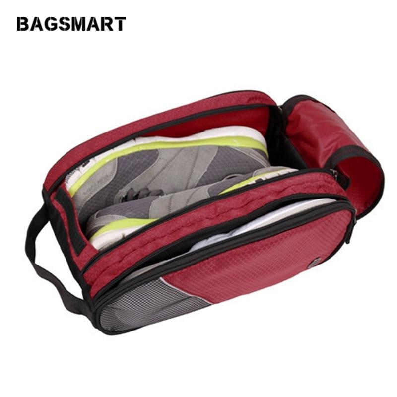 휴대용 방수 통기성 신발 가방 Unisex 레드 여행 신발 가방 리틀 수하물 여행 가방