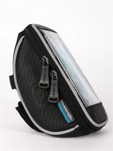 Bike Phone Bag Black Men Women Sports Cycling Bicycle Accessories Front Frame Tube Pannier Double Touch Bag Pack