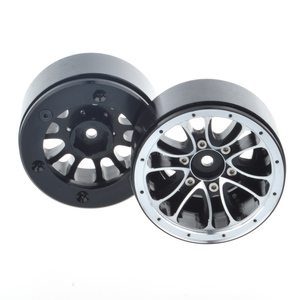 Image 5 - 4PCS 1/10 Scale RC Car Crawler 1.9 Inch Heavy Duty Beadlock Alloy Spoke Wheel Rim for 1:10 Axial SCX10 Tamiya D90
