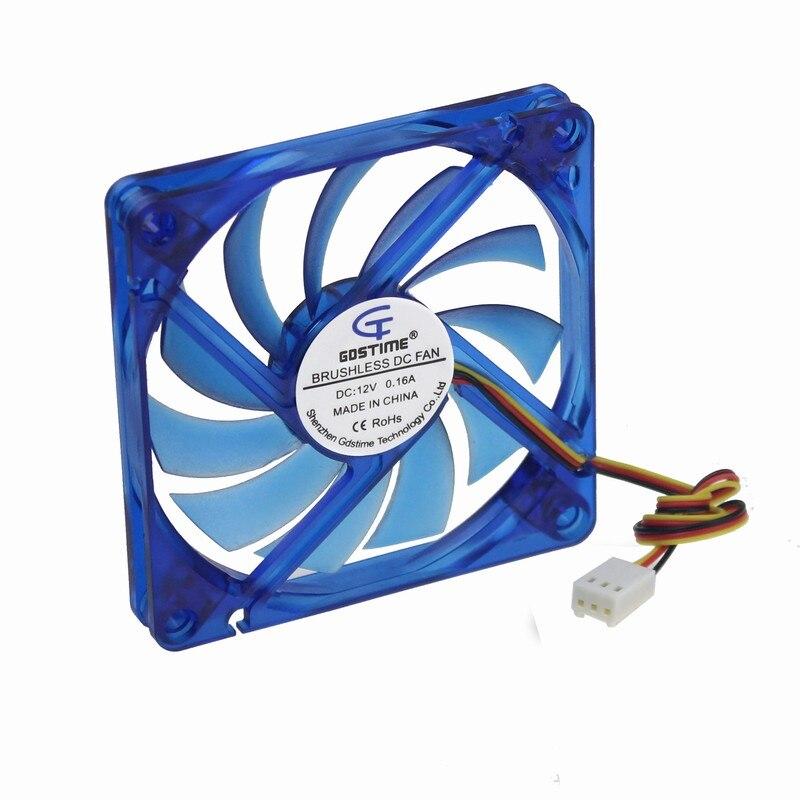 Online Shop Gdstime 5 Piece DC 12v 80x80x10mm 8cm 3 Wire 3Pin Speed ...