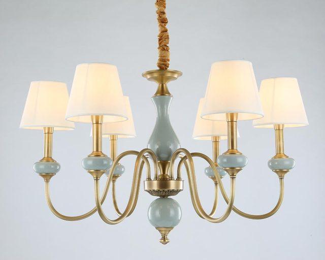 Moderne Voll Bronze Kupfer Kronleuchter Für Schlafzimmer Esszimmer  Wohnzimmer Mit Keramik Luxus Kronleuchter Leuchten BLC102