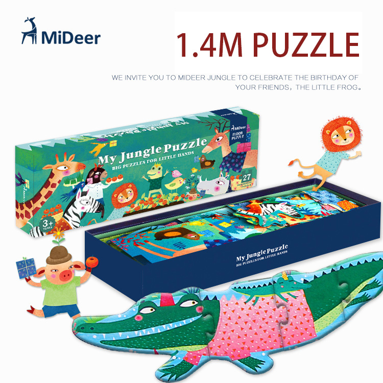 Mideer 140*21CM 27Pcs/Set High Quality Big Wooden Puzzle My Jungle Puzzle Aesthetic Puzzle For Children Birthday GiftMideer 140*21CM 27Pcs/Set High Quality Big Wooden Puzzle My Jungle Puzzle Aesthetic Puzzle For Children Birthday Gift
