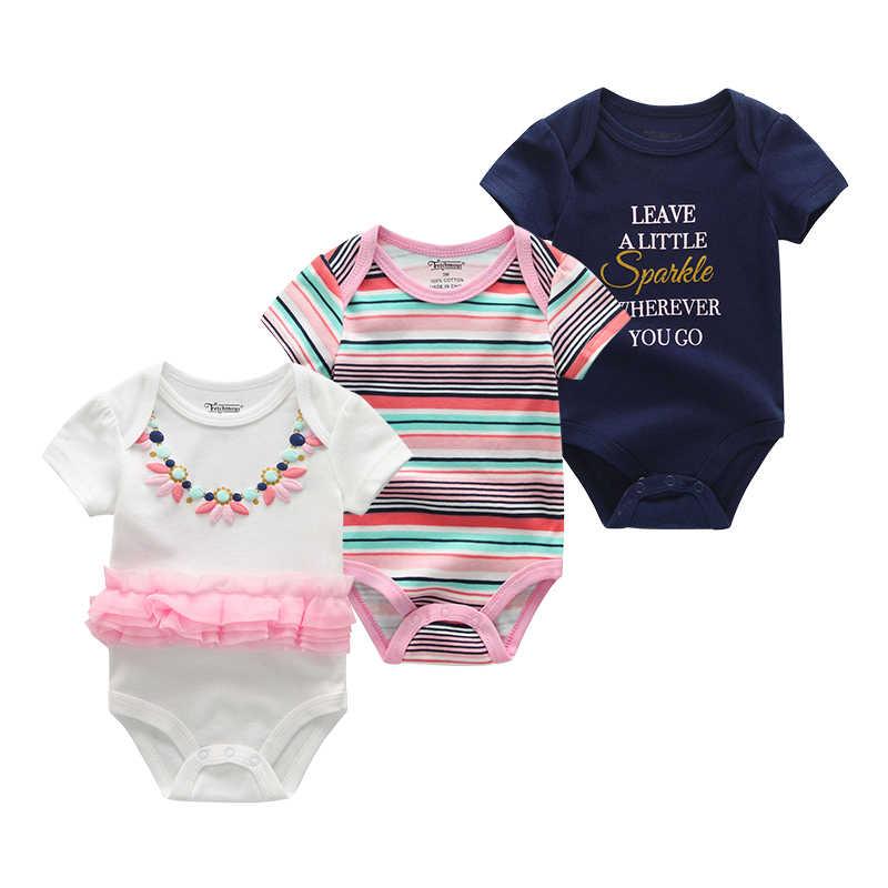 Baby Girl Clothes 3Pcs/sets Onesie Christmas ClothesNewborn Romper Kids Costume For Boy Infant Jumpsuit Short Sleeve Clothing