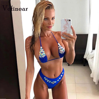 Vefinear sexy bikinis Diamonds Swimming Suits Customize Diamonds Swimwear women bikini push up bling bling biquini bathing suits