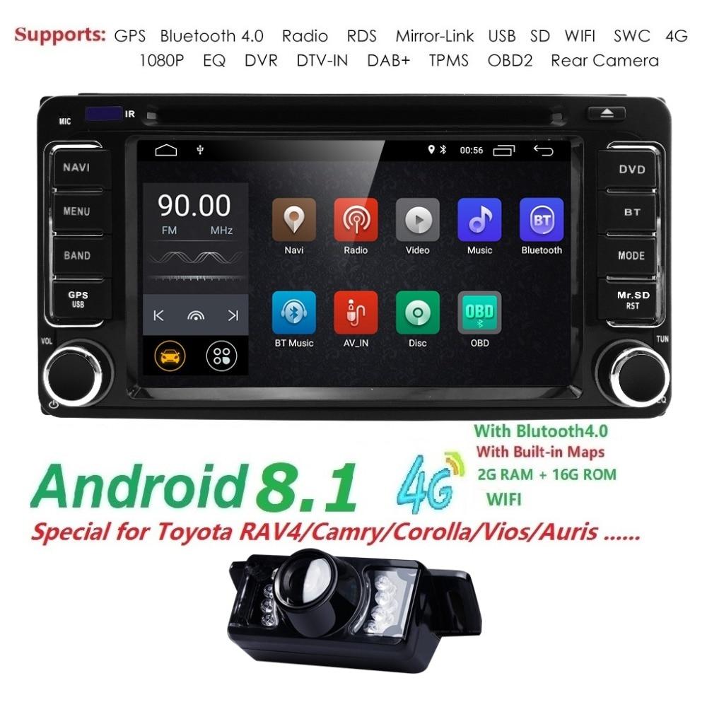 2 din Car Radio GPS Android 8.1 CAR DVD Player For Toyota RAV4 COROLLA Land cruise 100 200 Camry yaris prado 150Hilux ViosTerios2 din Car Radio GPS Android 8.1 CAR DVD Player For Toyota RAV4 COROLLA Land cruise 100 200 Camry yaris prado 150Hilux ViosTerios
