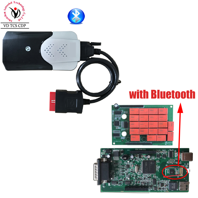 New Vci (2015 R3 Keygen CD )VD TCS CDP Pro with Bluetooth Diagnostic tool for Auto Cars/Trucks OBD2 Scanner One Year Warranty