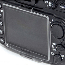 10 adet/grup Sert Plastik Film lcd monitör ekran koruyucu Koruyucu için Nikon D90 BM-10