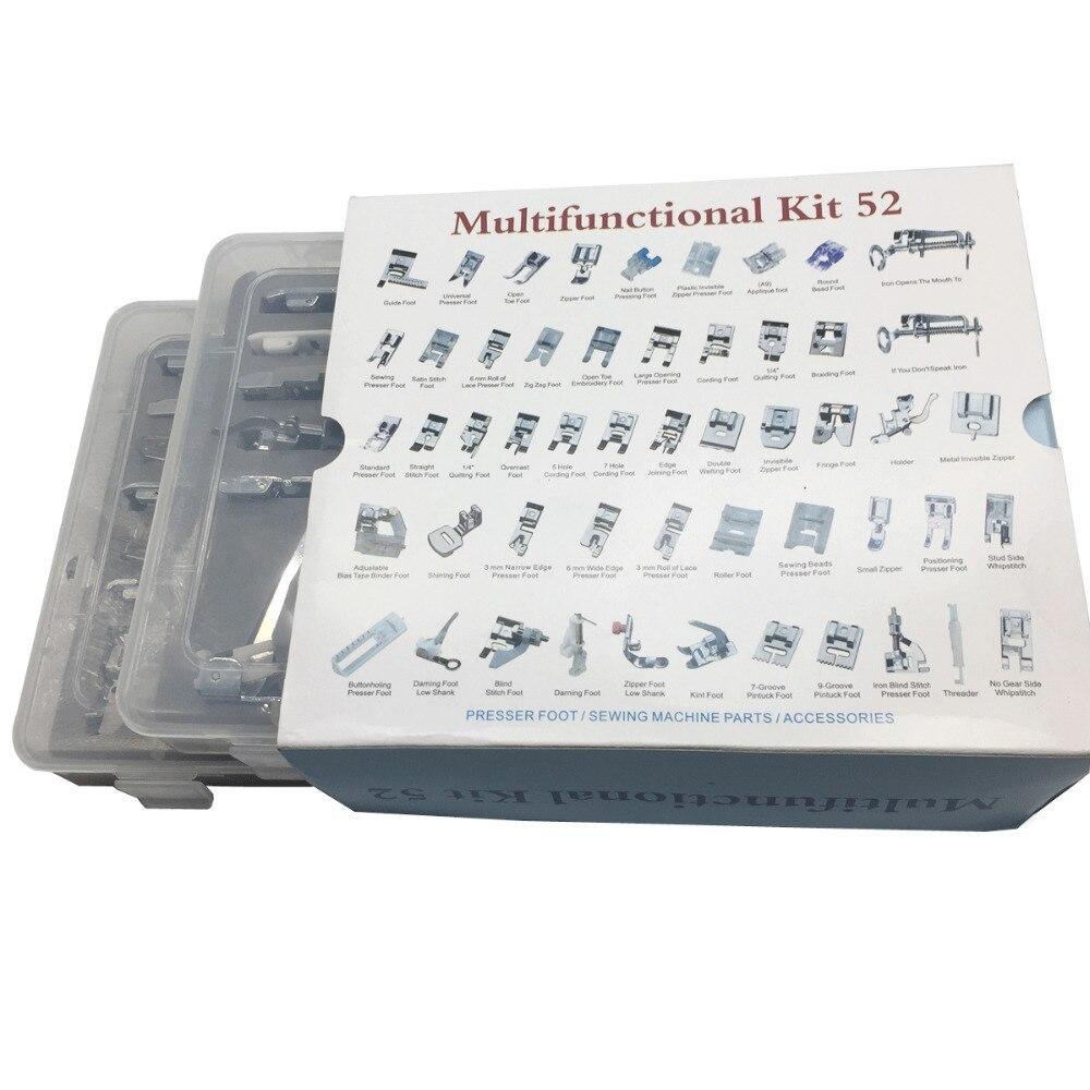 52,42 nähfuß Nähmaschine Flechten Blindstich Stopfen Fuß Feet Kit Set Mit Top Box Snap On Für Brother sänger