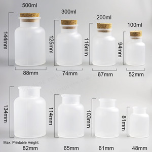Image 3 - 12 x vazio 100g 200g 300g 500g em pó garrafa plástica 100g banho frasco de sal com cortiça de madeira & colher de madeira