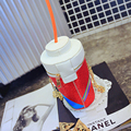 Senhora saco do mensageiro do saco das mulheres 2015 nova moda casual imprimir fun garrafas de coca-cola palha criativo cor hit bolsa de ombro mulheres, LB1429