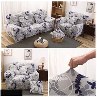 Vintage Dark Printing Sofa Cover Flexible Stretch Fully Wrapped Fabric Machine Washable Sofa Slipcover Home Decor