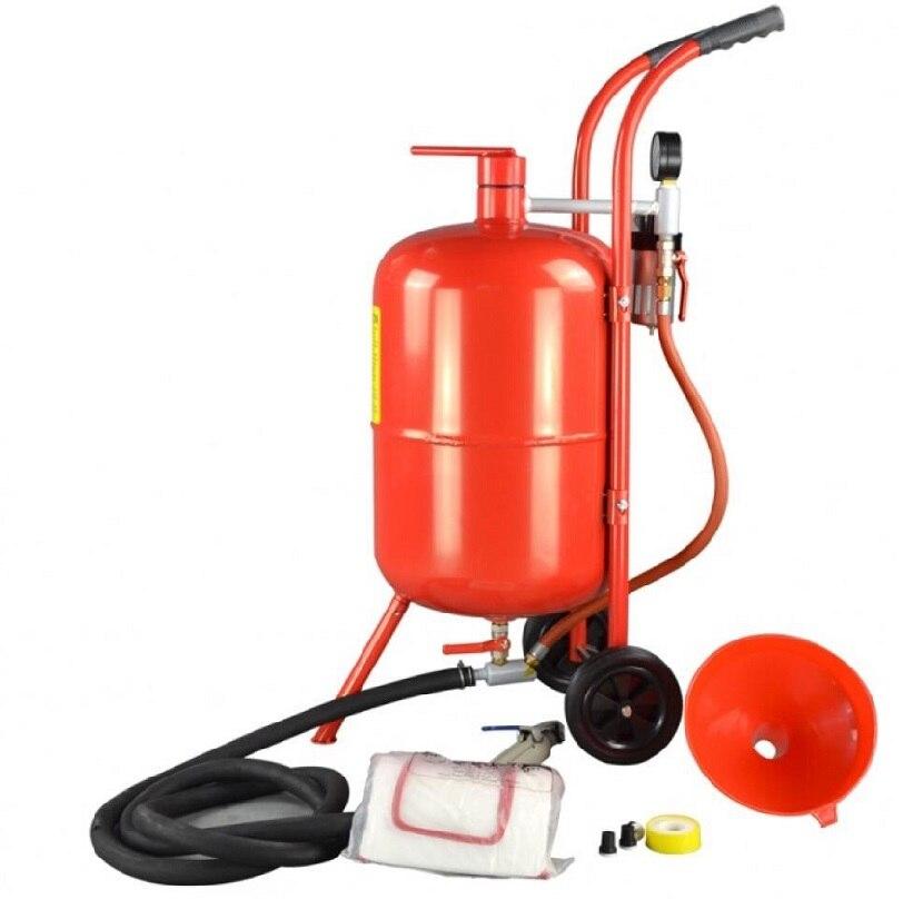 mini sandblaster 10Gallon sandblast pot portable sand blasting pot with abrasive sand blasting gun