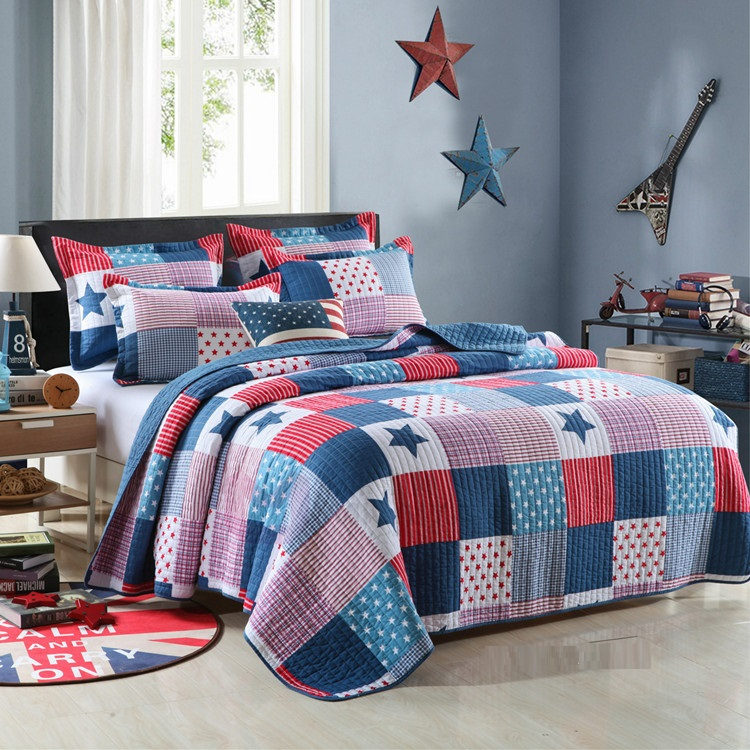 New Arrival Pentagram Cotton Quilted Blanket Aircondition Summer Quilt Patchwork Comforter Bed Cover Bedspread Tatami Mat Carpet