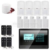 Wireless Wired GSM SMS Home House Security Inturder Alarm System 5 Door Sensor 4 Motion Sensor