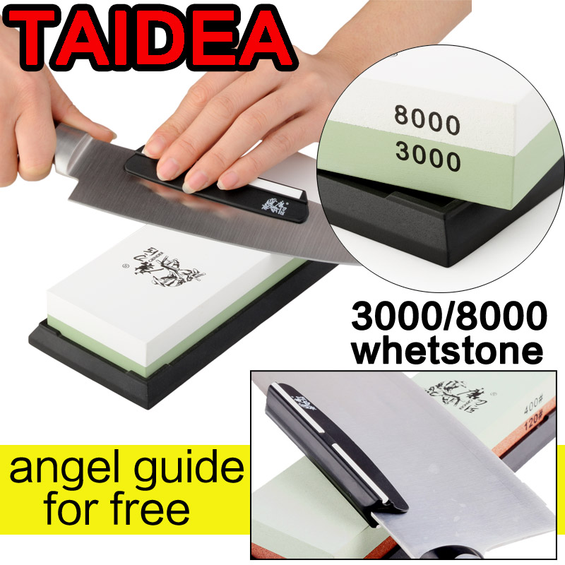 TAIDEA 600 1000 3000 8000 knife grinder angle double Side Professional Knife Sharpener Sharpening Stone <font><b>Whetstone</b></font> angle guide image