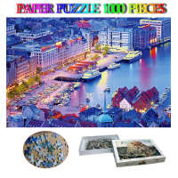 Bergen Adults Paper Jigsaw Puzzle 1000 Pieces Norway Beautiful Landscape Puzzle Paper Puzzles Games Kids Chlidren Toys Gifts
