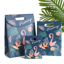 Cartoon animal Flamingo paper Cookies chocolate Candy box Gift Bags Wedding birthday baby shower new year Decoration package