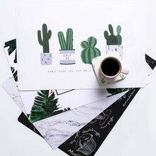 Креативные водонепроницаемые Жаростойкие Нескользящие коврики настольные вспомогательные гаджеты японский стиль мультяшная чашка, Вилка Нож Салфетка под тарелку