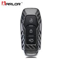 2017 Novo 100% Genuine Fibra De Carbono Carro Auto Remoto Chave fob titular Da Tampa do Caso Shell Para Ford Focus Mondeo Kuga Fusão Carro Styling