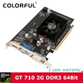 Colorful NVIDIA GeForce GT710 GPU 2GB DDR3 64bit DVI+VGA+HDMI Port PCI-E X16 2.0 Video card Graphics Card for computer LOL FIFA